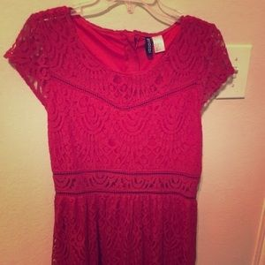 Red lace dress that has never been worn!!